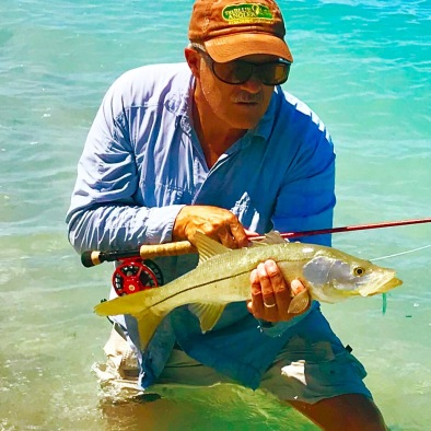 One of several Snook I found feeding on schools of bait coming in from the Gulf